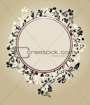 Beautiful floral ornate frame