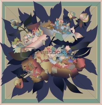 blue peony bouquet