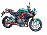 Green Benelli Motorbike