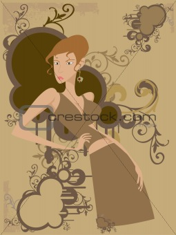 Blonde Vector Woman