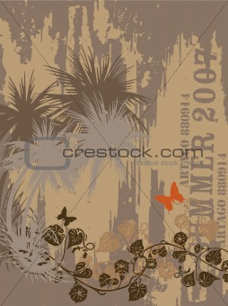 Abstract Grunge Summer/Autumn Background