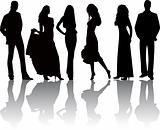 Fashion girls and boys vector