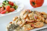 Shrimps dish with sauce