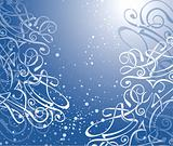 vector swirl background / christmas