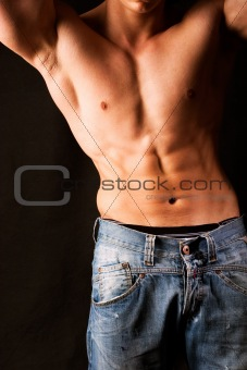 Attractive male body