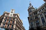 Madrid landscape - summer in the city