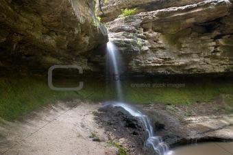small blurred waterfall