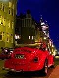 Red Car on Night Street