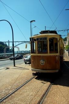 old tram in porto, portugal