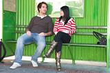 Bus stop couple