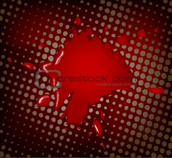 Abstract vector artistic red background