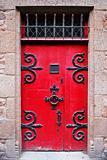 Red medieval door