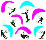 Kite surfing