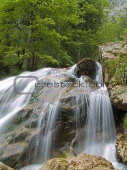 Waterfall on Mountain River