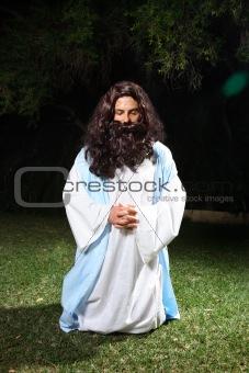 Praying at Gethsemane