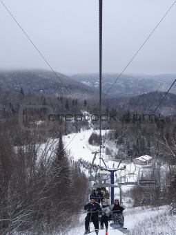 skiing/snowboarding, the lift