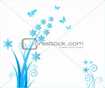 snowflakes flower / christmas ornament / vector