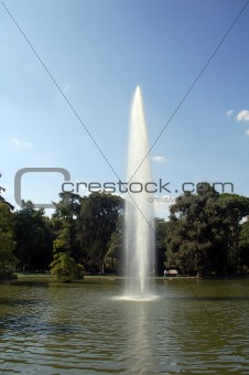 a big park in the city of madrid