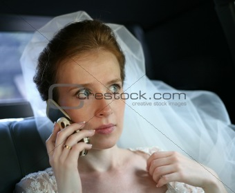 Bride with the phone