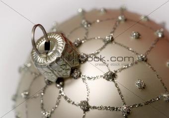 Christmas silver ball