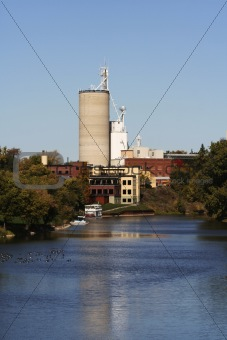 cement factory near river