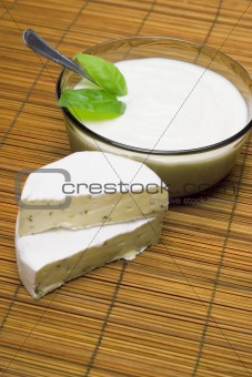 Camembert and cottage cheese