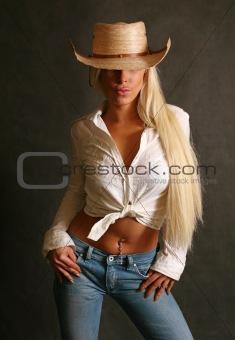 Blonde in hat
