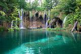Lake and waterfalls