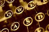 aged typwriter keys