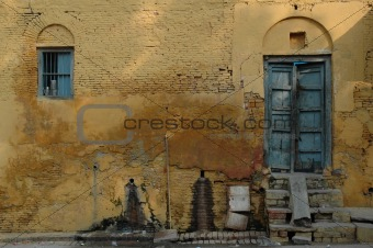 old wall in fainted colours