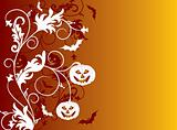 Halloween background, vector