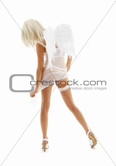 white angel on high heels #4