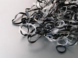 Bunch of black and white rubber bands