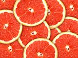 Background with citrus-fruit of grapefruit slices