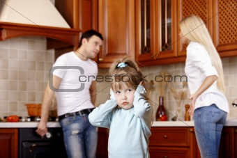 Quarrel of parents