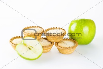 Apple pies with apples