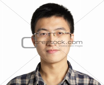 asian man with glass