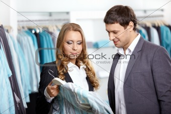 Couple in shop