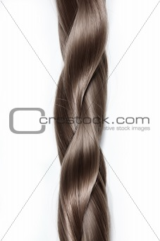 Plait on a white background