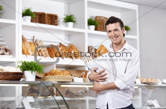 The client in a bakery