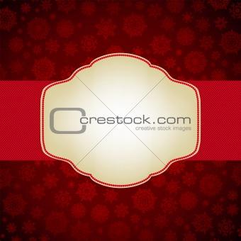 Christmas card template. EPS 8