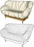 Sofa. 3D construction