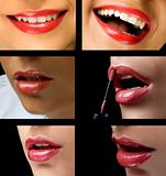 Sexy lips collage