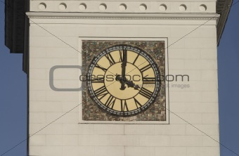 Tower clock with roman digits