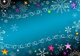 Dark blue Christmas frame