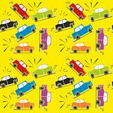 seamless pattern car crash