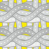 seamless pattern roads