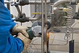 worker grinder