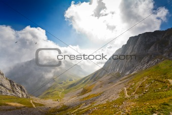 mountain Pilatus in Switzerland