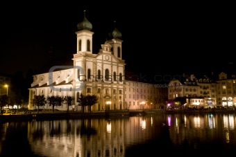 Ancient christian cathedral in Luzerne, Switzerland
